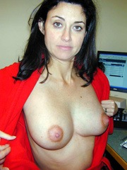 French wife shows her big breasts at home